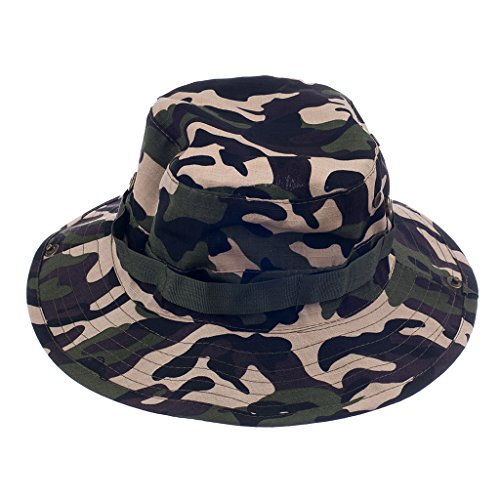 Imported Mens Camo Military Boonie Cap Sun Bucket Brim Army Fishing Hiking Hat #1  available at amazon for Rs.295