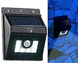 Lunartec Solar Aussenleuchte: Solar-LED-Wandleuchte mit Bewegungsmelder, Dimm-Funktion, 180 lm, IP44 (LED-Solar-Wandlampen)
