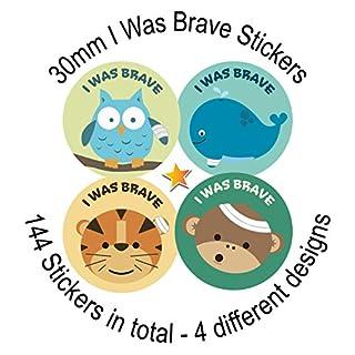 I Was Brave - Bravery (suitable for Doctor, Nurse, Carer, Teacher etc) Reward Stickers