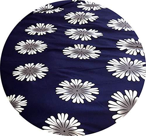 Leonado Vicenti 4 teilige Bettwäsche Mikrofaser 2 x 135×200 cm Bettbezug + 2 x 80×80 cm Kissenbezug Blumen blau weiß mit Reißverschluss
