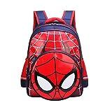 Wasserdicht Kindergarten Buch Tasche Langlebig für Jungen, Schultaschen für Kinder, Primärrucksack Buchtasche für Kinder (Spiderman, Large)