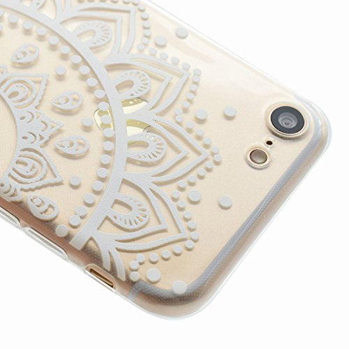 iPhone 7 Silikon Hülle,iPhone 7 Glitzer Hülle,iPhone 7 Transparent Hülle,iPhone 7 Crystal Clear TPU Case Hülle Klare Cristall Silikon Gel Schutzhülle Etui für iPhone 7 4.7 Zoll,EMAXELERS iPhone 7 (4.7 Dandelion Lover 5