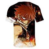 CTOOO 2018 Sommer Fairy Tail 3D Druck Herren Damen Kurzarm T-Shirt Paar Kurze Ärmel Shirt Vergleich