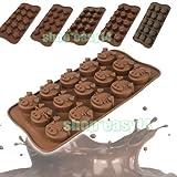 EMOTREE 6er Kuchenform Ausstechform Herz Schwein Stern Schokoladenform Backform Silikon Pralinenformen