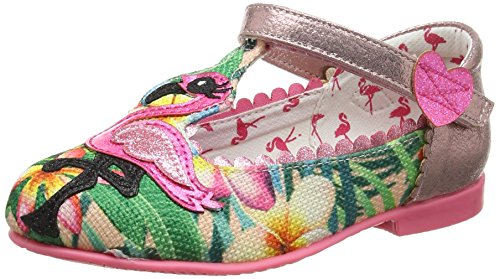 Irregular Choice Flamingo, Mädchen Mary Jane Schuhe, Mehrfarbig (Peach), 30 EU