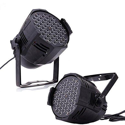 Euroeshop 2pcs 54x3W Mini LED Stage Licht PAR Strahler Effektbeleuchtung Disco DJ Klub Party Showlaser Lichteffekt DMX512 8CH RGBW