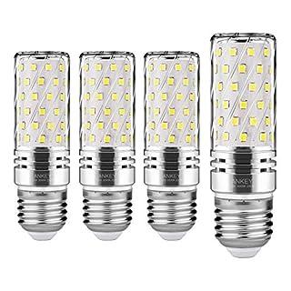 LED Mais Glühlampen E27 15 W 120 W ersetzt Glühlampen, Kaltweiß 6000K 1500LM, CRI>75+, nicht dimmbar, Edison Leuchtmittel Mais-4 Stück
