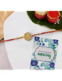 TIED RIBBONS Designer Rakhi for Brother with Rakshabandhan Special Card