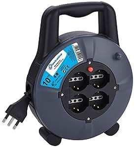 electraline 49026 verl ngerungskabel mit kabeltrommel 10. Black Bedroom Furniture Sets. Home Design Ideas