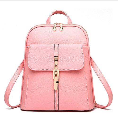 New Wave Female Rucksack Frühling und Sommer neue Student Fashion Casual koreanische Handtasche ( Color : Rosa ) (Klar Rucksäcke Pink)