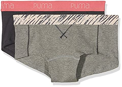 Puma Triangle Women's Mini Shorts Underwear, 2 Pairs, Womens, Unterhose