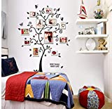 HHZDH Wandaufkleber 100X120 cm / 40X48In 3D DIY Entfernbare Foto Baum PVC Wandtattoos/Adhesive Wandaufkleber Wand Kunst Home Decor Weihnachten