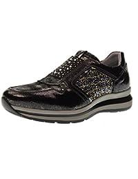 Nero Giardini - Zapatillas de Piel para hombre Gris Sasso 42 A993e