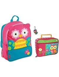 Stephen Joseph Girls Sidekick Owl Backpack and Lunch Box with Zipper Pull  Set - Kids Bags b2d391de16bf9