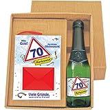 Geburtstags-Geld-Büchlein zum 70: Alles Gute! Herzlichen Glückwunsch mit Piccolo im Geschenke Set Happy Birthday zum 70. Geburtstag 20116