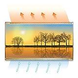 LLY Carbon Crystal elektrische Heizplatte, Infrarot-Warmwärter Carbonheizung Platte Heizplatte Energiesparen