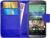 G-Shield Hülle für HTC M8 Klapphülle mit Kartenfach - Blau