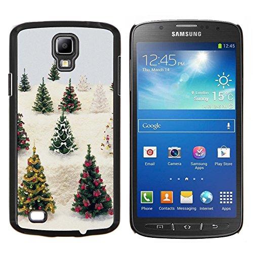 For Samsung Galaxy S4 Active i9295 Case , Ornamenti grande decorazione di Natale - Design Pattern Duro Staccabile Stile Telefono Cellulare Nuovo Caso Cover Guscio Duro
