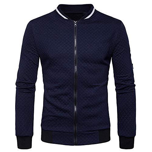 NINGSANJIN Sweatshirt Herren Pullover Hoodie Kapuzen Sport Basic Kapuzenpullover Sweatjacke (Marine,XL) (Plaid-print-geldbörse)