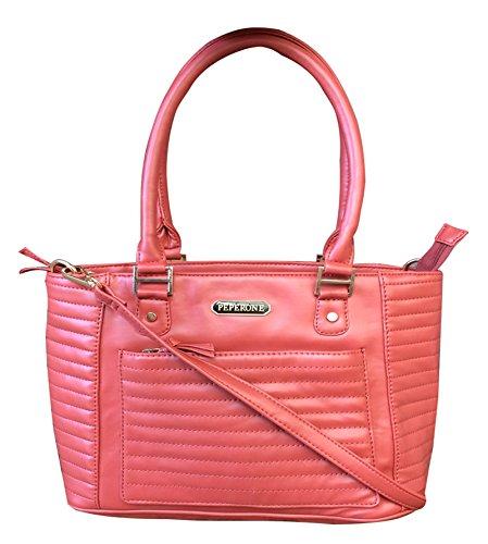 Peperone PU-Leder-Designer-Geldbeutel-Frauen-Schulter Tasche Lachshandtasche Lachs