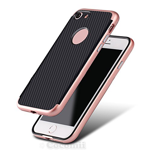 iPhone 8 / iPhone 7 Coque, Cocomii Demon Armor NEW [Heavy Duty] Premium Carbon Fiber Slim Fit Shockproof Hard Bumper Shell [Military Defender] Full Body Dual Layer Rugged Cover Case Étui Housse Apple  color