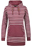 Blend SHE Cloey Damen Kapuzenpullover Hoodie Long Sweatshirt mit Fleece-Innenseite Longline Sweat-Kleid aus hochwertiger Baumwollmischung, Größe:M, Farbe:Zinfandel (73006)