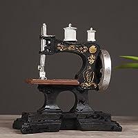 YL LY Máquina de Coser Antigua Europea Adornos de Café Modelo de Resina Retro Tienda de