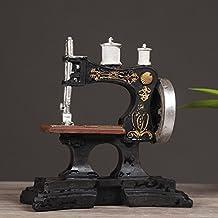 QGD Máquina de Coser Antigua Europea Adornos de Café Modelo de Resina Retro Tienda de Ropa