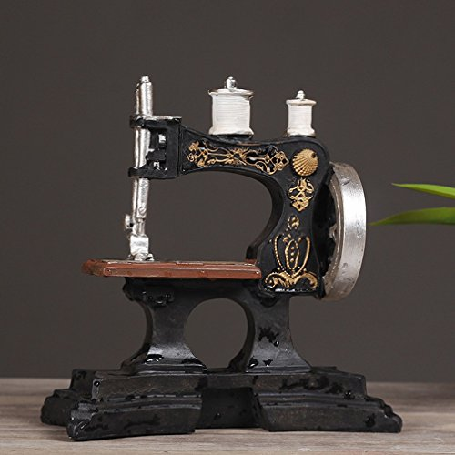 Preisvergleich Produktbild DD Europäische Antike Nähmaschine Cafe Ornamente Retro Harz Modell Bekleidungsgeschäft Dekorative Fotografie Requisiten,A