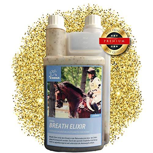 EMMA ♥ Hustensaft fürs Pferd I Bronchial Elixir I Bronchialkräuter für die Atemwege & Schleimhäute I Atemwegskräuter Liquid I Kräuter fürs Pferd I Staub Allergie 1 L