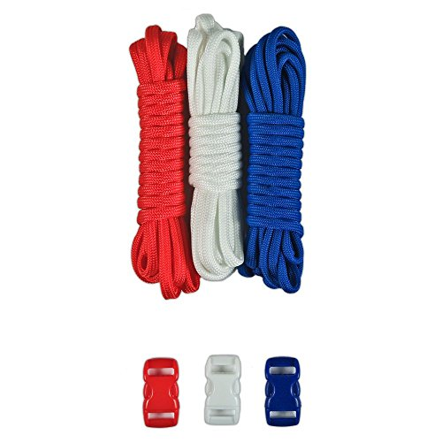 Paracord Reißfestigkeit Planet Typ III Paracord Combo,-Kits mit gratis Schnallen-für Freundschaft Armbänder und Craft Anfänger