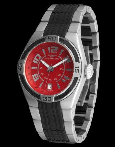 Sandoz 71553-07 – Reloj Fernando Alonso Caballero rojo / negro