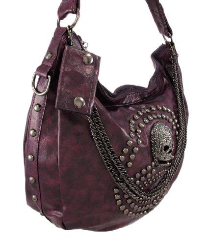 Things2Die4 ,  Damen Schultertasche violett