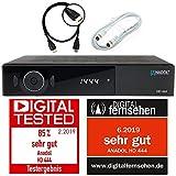 Anadol ADX HD 444 HDTV digital Satelliten Sat-Receiver (HDTV, DVB-S/S2, HDMI, 2X USB 2.0, FullHD 1080p, YouTube) [vorprogrammiert für Astra Hotbird Türksat ] inkl. HDMI Kabel + Satkabel 2m, schwarz
