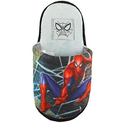 Pantoffel Spiderman Junge Grau
