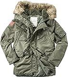 Denim&Supply Herren Parka Warme Jacke Uni & Uninah, Größe: XL, Farbe: Grün