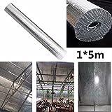 Flying Colourz–1m * 5m Pflanze Dach Isolierung Film doppelte Folien-Bubble Aluminium Loft Isolierung Rolle