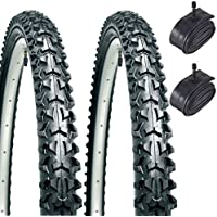 "CST Eiger 26"" x 1.95 Mountain Bike Tyres with Schrader Tubes (Pair)"