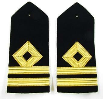 Boutique uniforme London Epaulette marine marchande administrateur-Second Mate rigide A16 R954 courbe