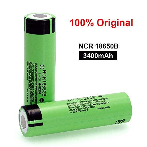 Zantec - NCR18650B / 2 baterías / 3,7 V / 500 ciclos / 3400 mAh