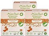 NatraTouch Cotone organico certificato compostabile (notte del tovagliolo sanitario - 3 PACCHETTO)