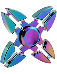 Roreikes Fidget Spinner , Tri-Spinner Fidget Toys Finger Spinner Spielzeug mit und glatte Rotation , ideal Geschenke für ADS, ADHS, Angst und Autismus Kinder und Erwachsene