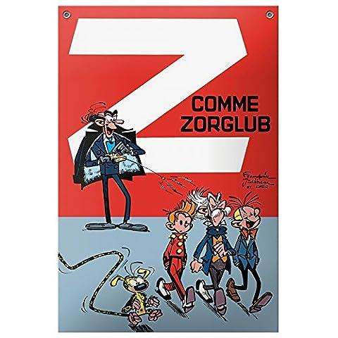 Plaque émaillée BD Coustoon Spirou et Fantasio Z comme Zorglub