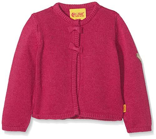 Steiff Baby-Mädchen Strickjacke 1/1 Arm, Rot (Anemone|Red 2144) 80