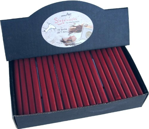 Großpackung 72 Sticks - 7mm Siegelwachs flexibel für Pistole - Bordeaux Rot