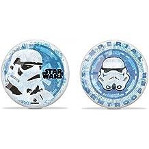 Brillante Bola de juego / Fútbol / Bola de playa - Star Wars - con Soldado imperial en azul/blanco aprox. 22 cm