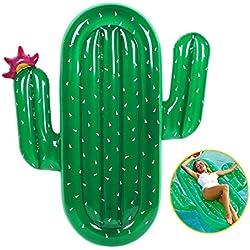Juguete Inflable Gigante de, Juguetes Flotadores para Piscina, para Playa, Cactus en Forma de Fila Flotante Adulto Flotante Cama de Moda Anillo de Natación Flotante Juguetes de Agua.