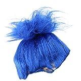 MagiDeal Perruque Cheveux Accessoire Déguisement Décor Bricolage Perruque Élan Costume Fantaisie - Bleu