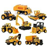 MOOHOP ChildrenS Mini Alloy Engineering Vehicle Simulation Model Excavator Puzzle Toy Car(Random Style)