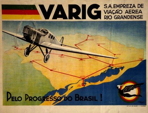 vintage-de-viaje-brasil-con-varig-sa-empresa-de-viao-area-ro-grandense-c1927250gsm-art-tarjeta-brill